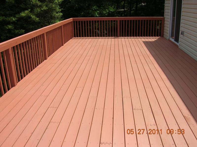 the deck was brushed with two coats of semitransparent stain using a roller would leave marks that ruins the finish - Behr Semi Transparent Stain Colors